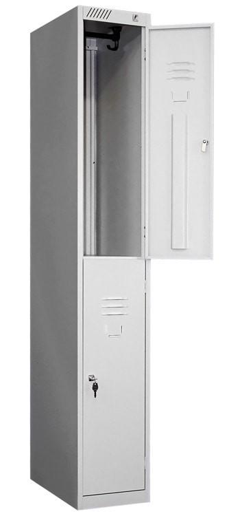 Модульный металлический шкаф для одежды 2-х дверный ШРС 12дс-400