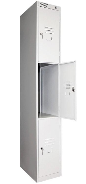 Модульный металлический шкаф для личных вещей 3-х дверный ШРС 13дс-300