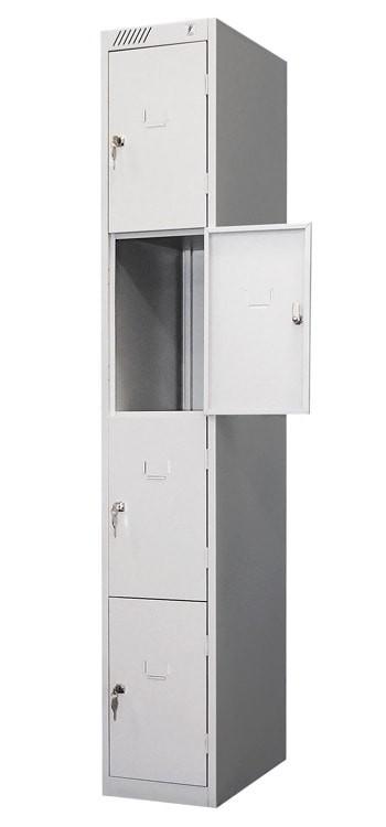 Модульный металлический шкаф для хранения личных вещей и сумок 4-х дверный ШРС 14дс-400