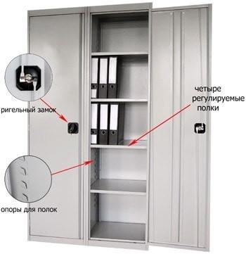 Архивный металлический шкаф ШХА-100(40)