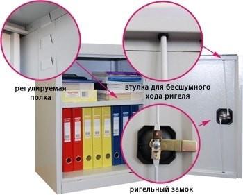 Архивный металлический шкаф ШХА-50(40)/670