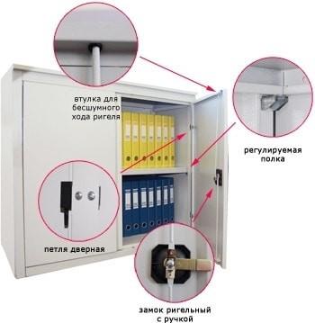 Архивный металлический шкаф ALR-8810 (усиленная конструкция)