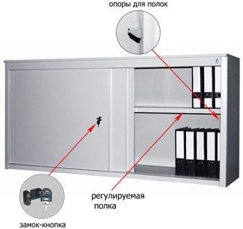 Металлический архивный шкаф-купе ALS-8818