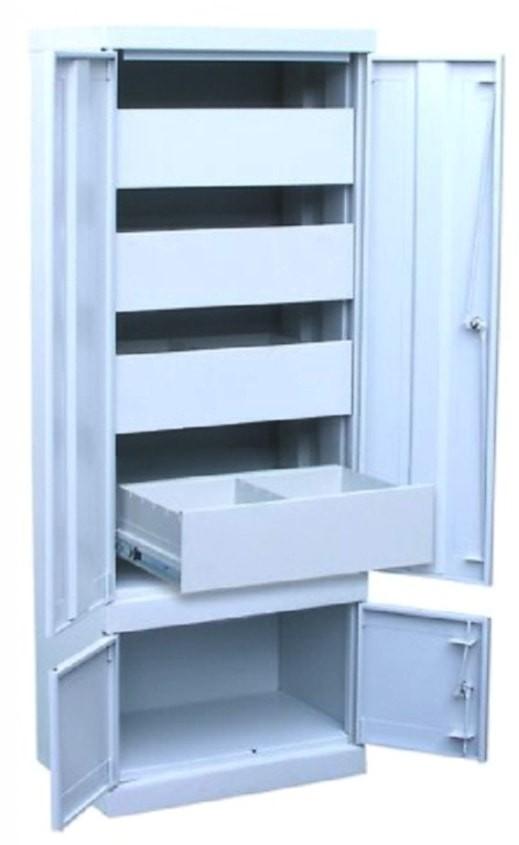 Металлический картотечный шкаф ШК-4-Д4