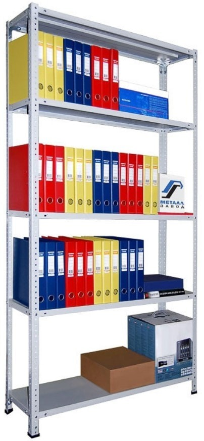 Металлические архивные полочные стеллажи СТФУ (усиленные)