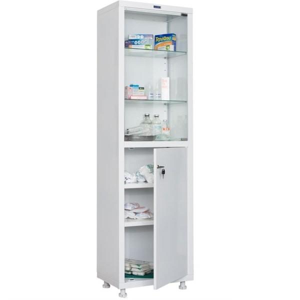 Шкаф медицинский, лабораторный металлический Практик MED 1 1657/SG