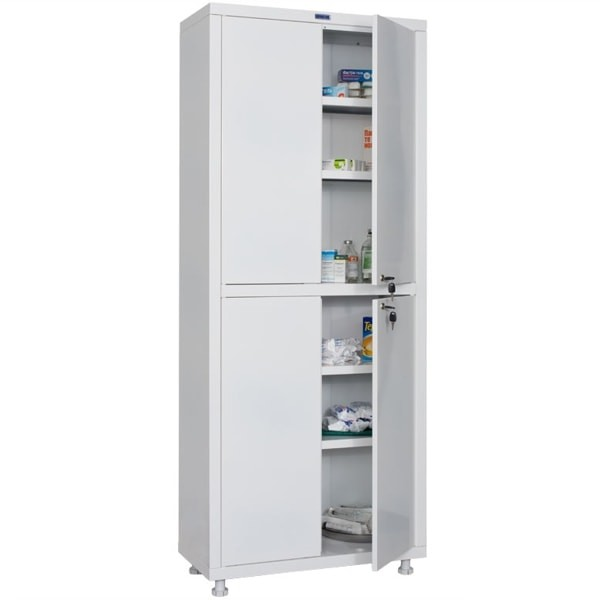 Шкаф медицинский, лабораторный металлический Практик MED 2 1670/SS