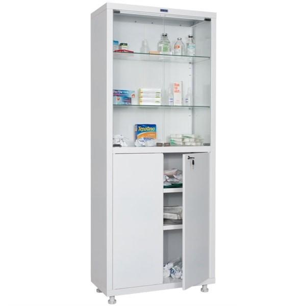 Шкаф медицинский, лабораторный металлический Практик MED 2 1670/SG