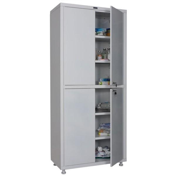 Шкаф медицинский, лабораторный металлический Практик MED 2 1780/SS