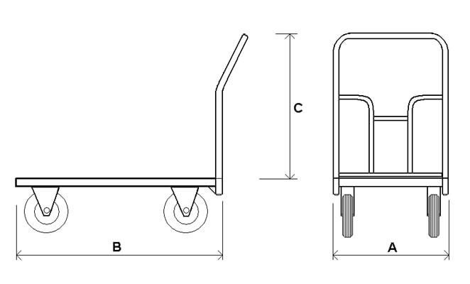 ТПР — Платформенная тележка с резиновым покрытием