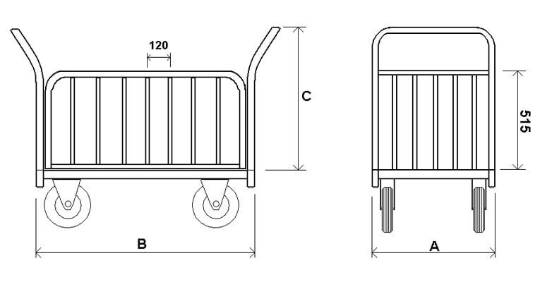 ТБ — Платформенная тележка с трубчатыми бортами