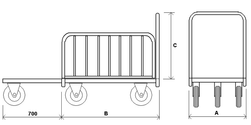 ДЛ — Тележка для перевозки длинномерных грузов