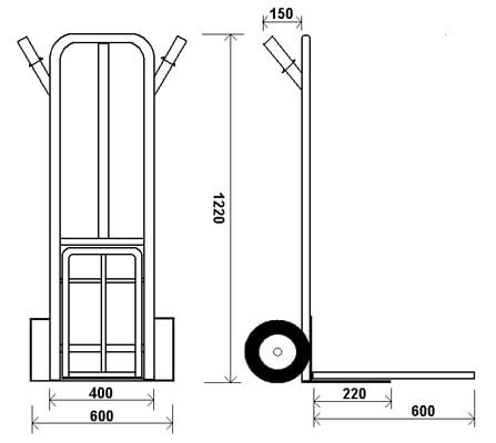 КГ 250 П — Тележка с откидной дополнительной платформой