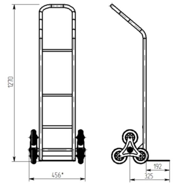 КГ-150 Л. Тележка грузовая лестничная.
