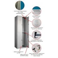 Шкаф для одежды металлический 2-х дверный ШРК 24-800