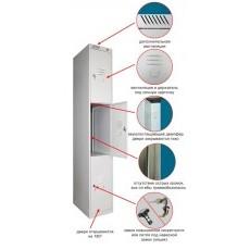 Модульный металлический шкаф для личных вещей 3-х дверный ШРС 13-400