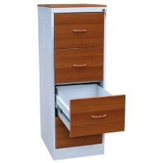 Металлический картотечный шкаф ШК-4-ЛДСП