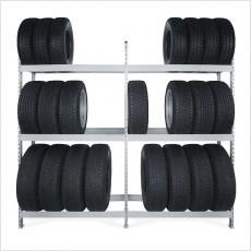 Металлические стеллажи СТ-023 для хранения автошин и дисков