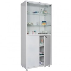 Шкаф медицинский, лабораторный металлический Практик MED 2 1780/SG